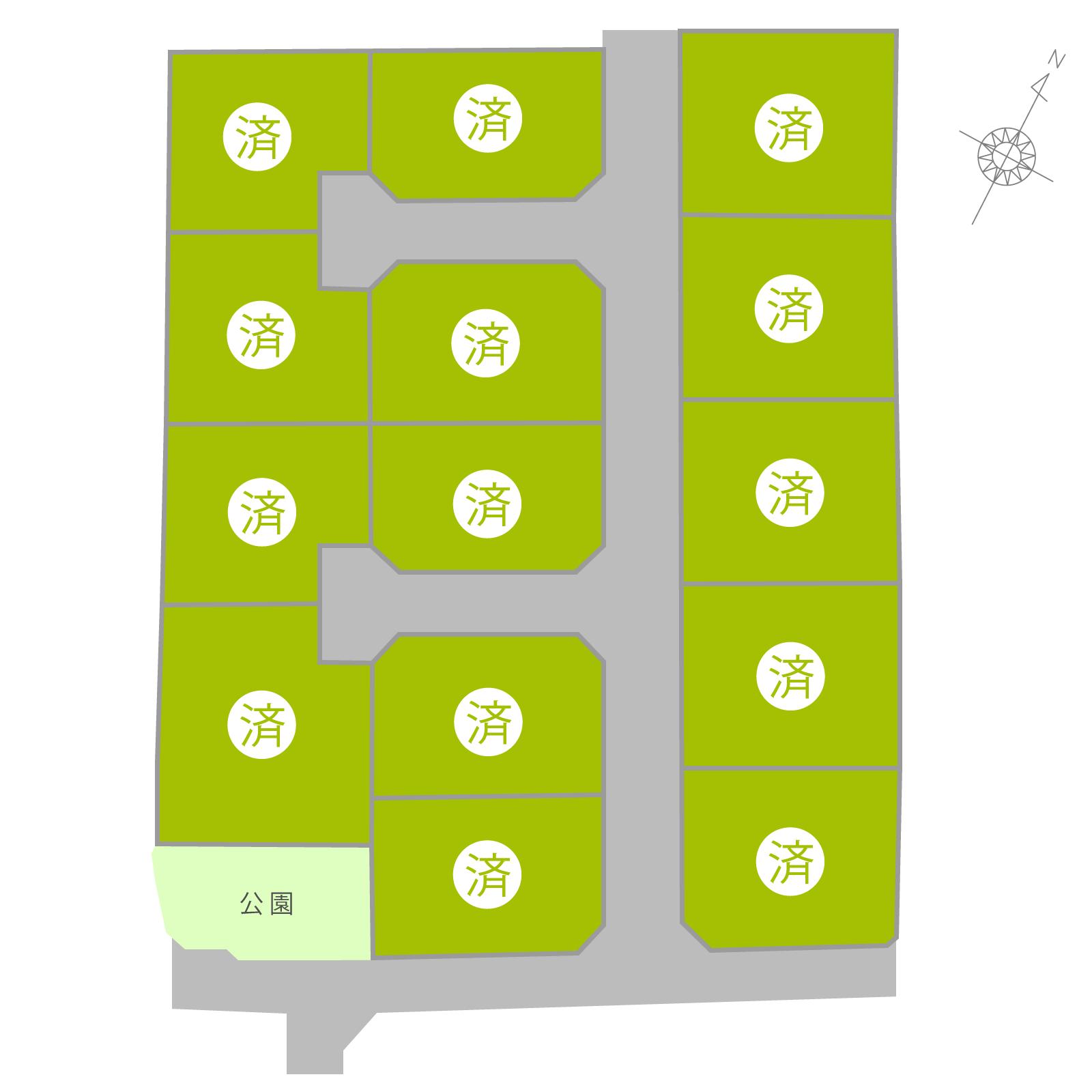 丸亀市郡家町1期(全14区画)